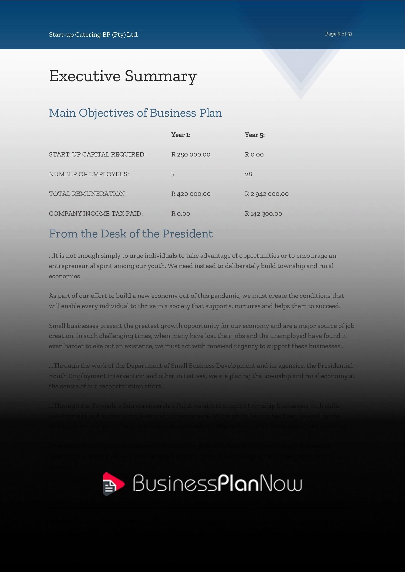 South african business plan sample resume template marketing job